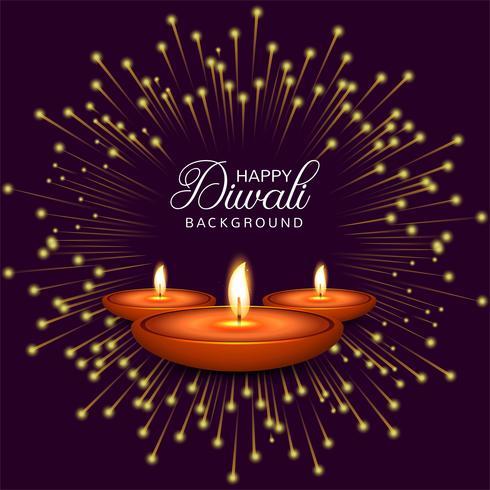 Firande Glad Diwali dekorativ oljelampa bakgrunds vektor