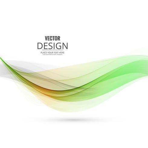 Vector elegante abstracto de la ilustración del fondo de la onda del asunto