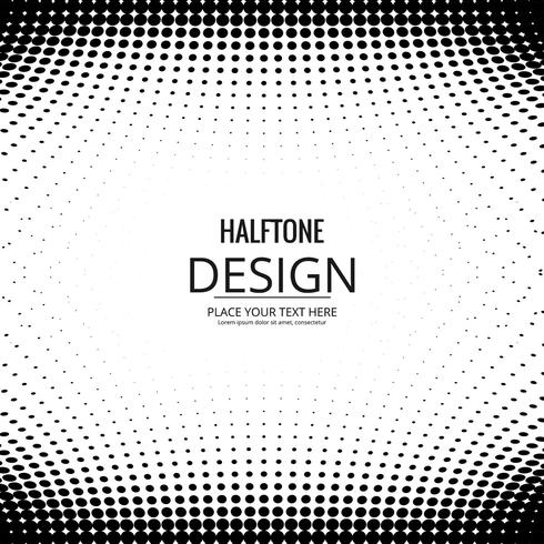 Abstrakt halvton färgstark design