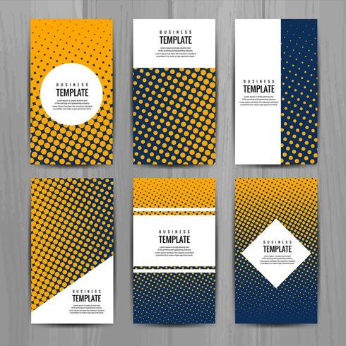 Abstracte stijlvolle buis brochure kaartsjabloon ontwerp