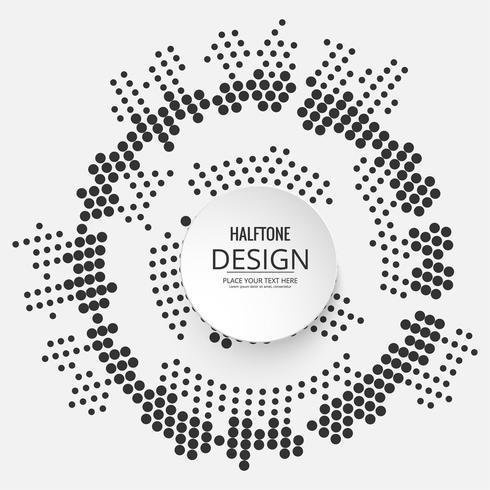 Abstraktes halbtoniges buntes Design