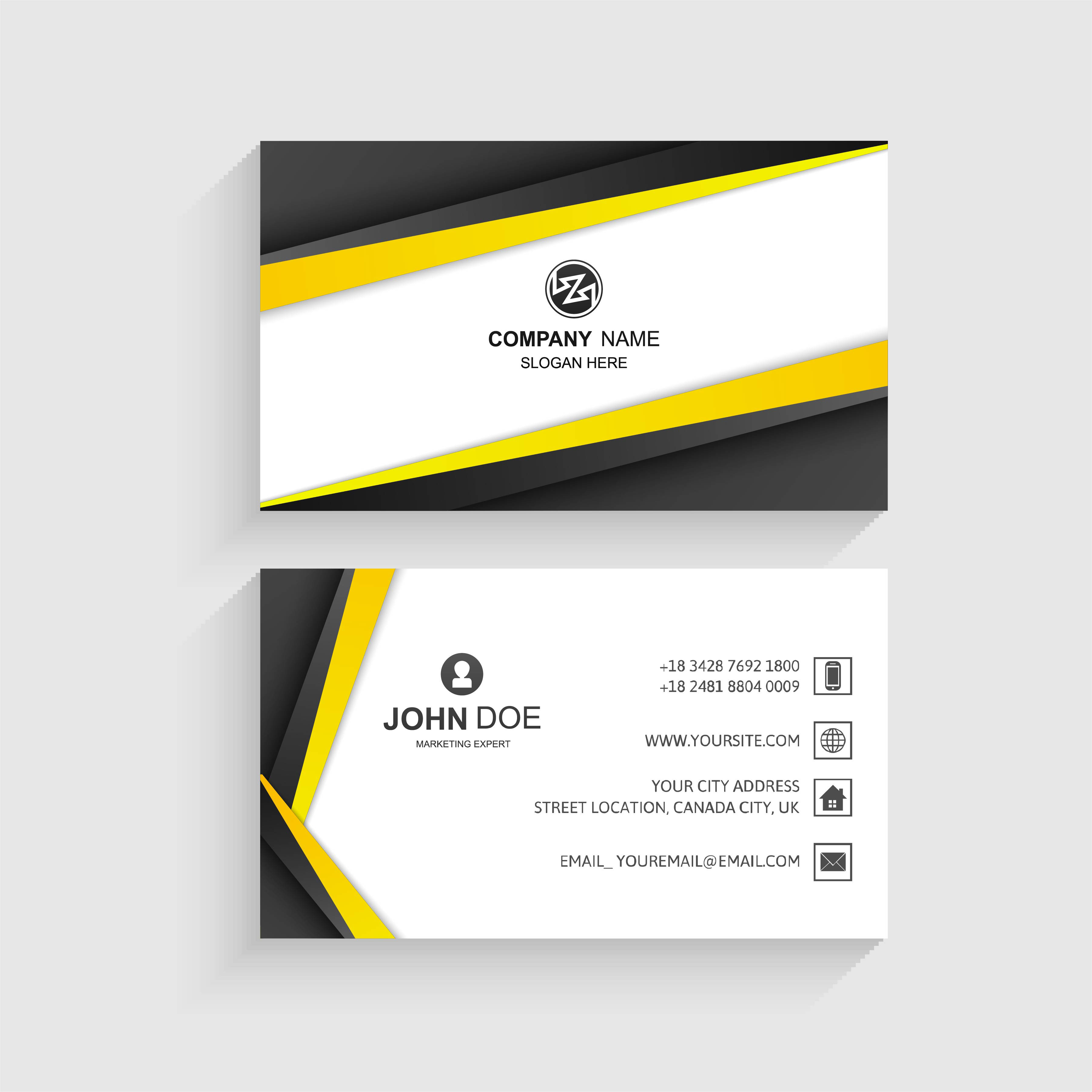 elegant creative business card set template vector 250001