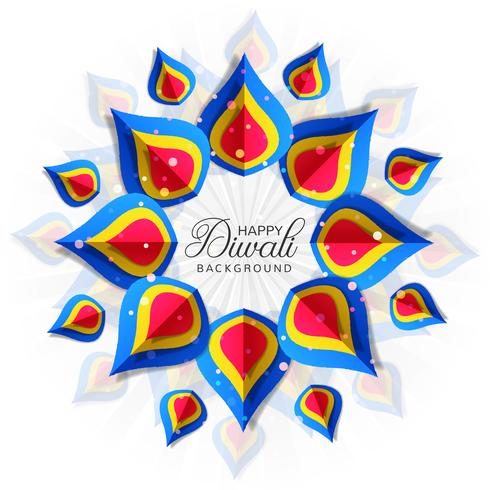 Diwali colorfu kaart decorativel achtergrond Vector