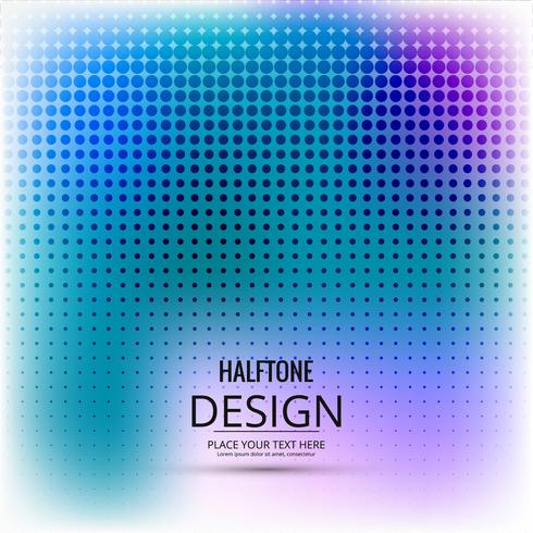Projeto colorido de meio-tom abstrato