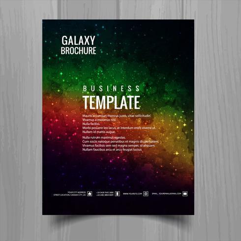 Galáxia universo brochura modelo projeto vector
