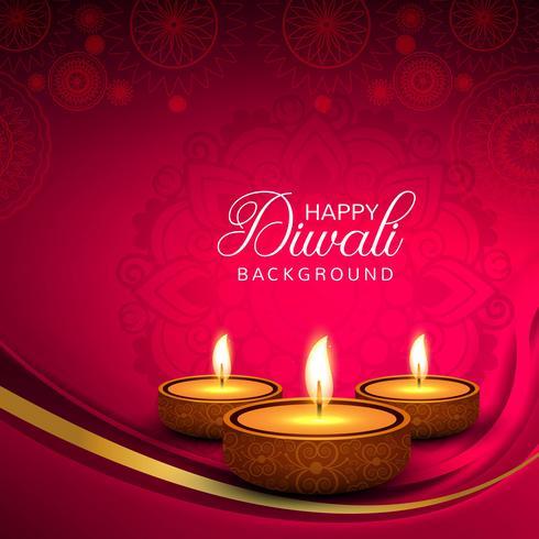 Fondo decorativo de la plantilla del festival de Diwali creativo