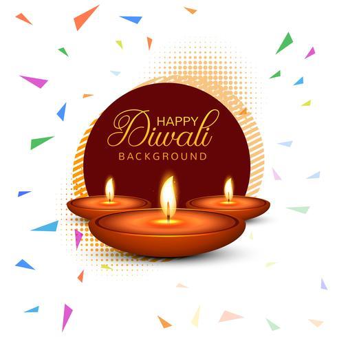 Fundo colorido decorativo de Diwali feliz elegante