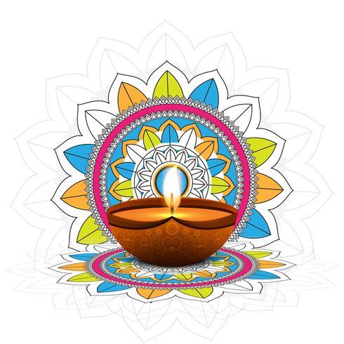 Fondo decorativo feliz celebración de festival de Diwali