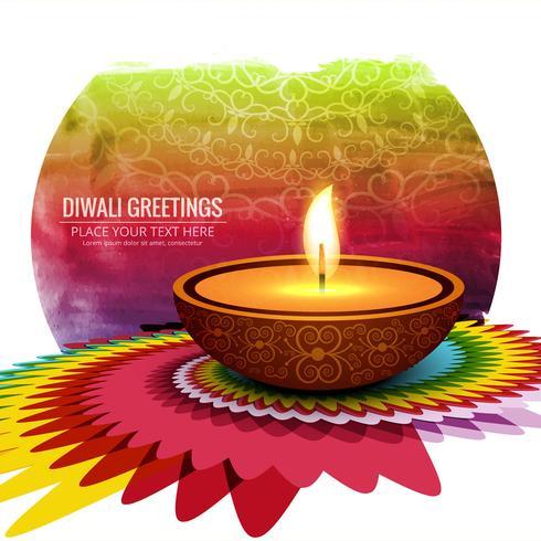 Feliz diwali diya óleo lâmpada festival fundo ilustração