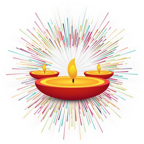 Fundo decorativo feliz de Diwali feliz