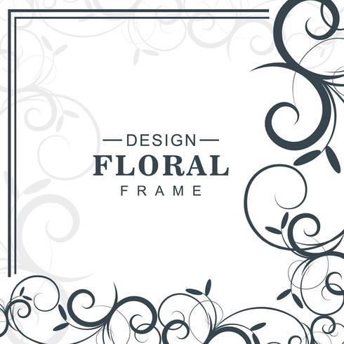Vetor de fundo floral decorativo abstrato