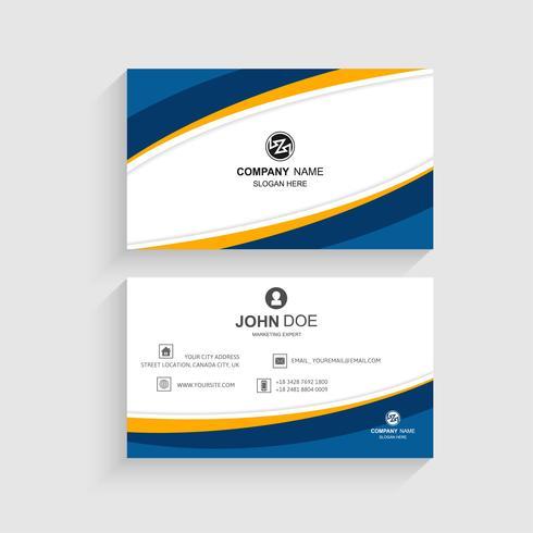 Cartão de visita conjunto modelo onda criativa design vector