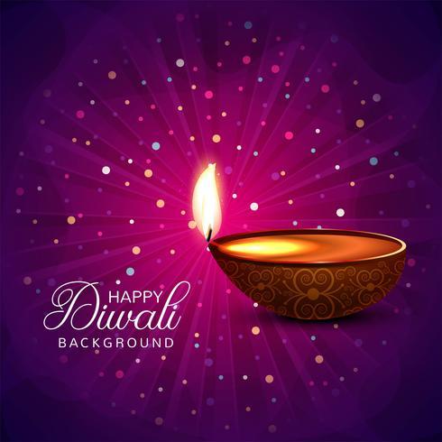 Diwali colorfu kort dekorativa bakgrund Vector