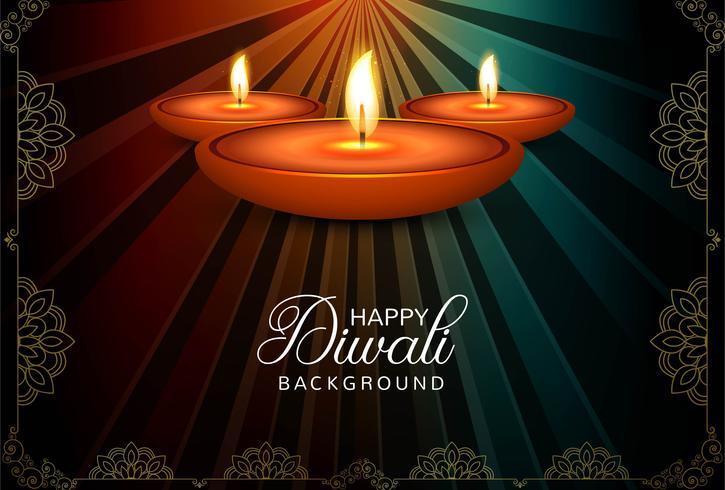 Abstracte Gelukkige Diwali-van de festivalkaart vector als achtergrond