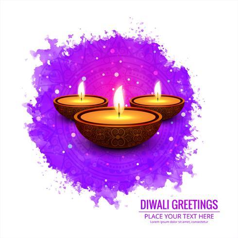 Elegant Glad Diwali dekorativa färgstarka bakgrund