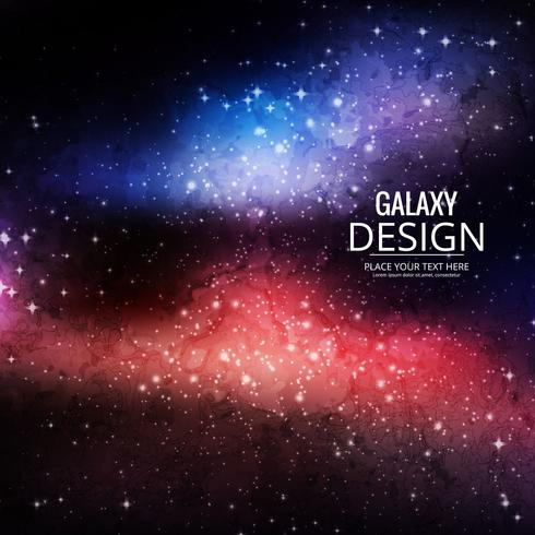 Space Galaxy Bakgrund med nebula, stardust och ljusa lysande