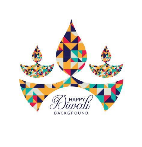 Vetor de fundo moderno feliz Diwali festival cartão