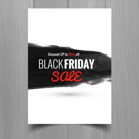 Resumo design de modelo de folheto de cartaz de venda sexta-feira negra
