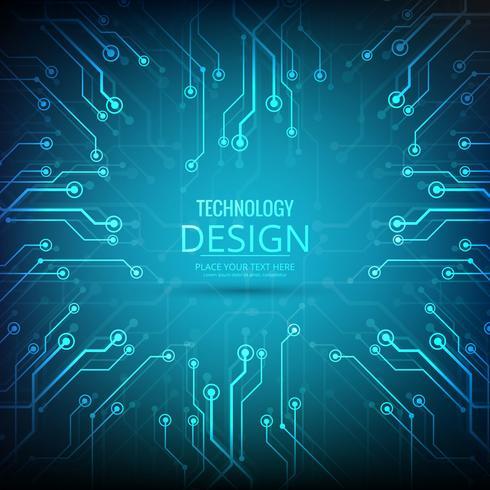 Resumen tecnología de diseño de fondo ilustración