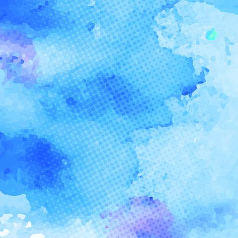 Abstrakt färgrik vattenfärg stroke bakgrund vektor