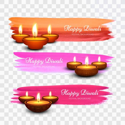 Dekorativa Happy Diwali festival vattenfärg måla bakgrund
