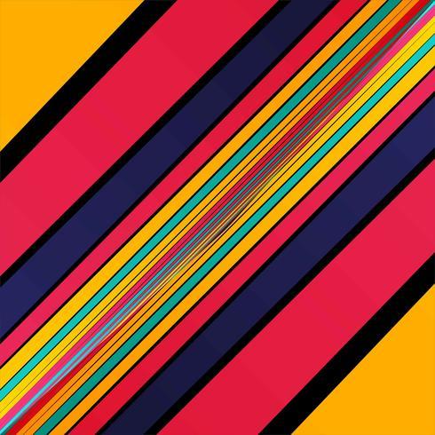 Vetor de fundo elegante linhas coloridas