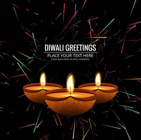 Moderne Gelukkige Diwali decoratieve achtergrond vector