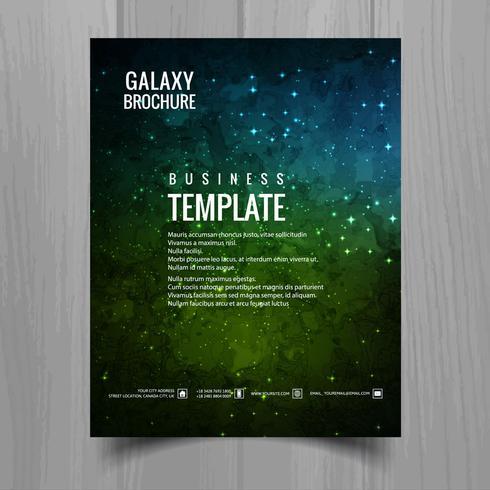 Galaxy universum brochure sjabloon ontwerp vector