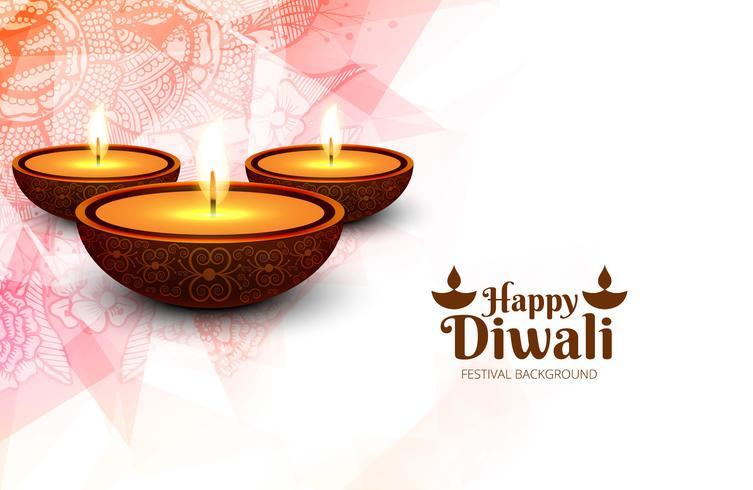 Design de cartão elegante do tradicional festival indiano vector backgr