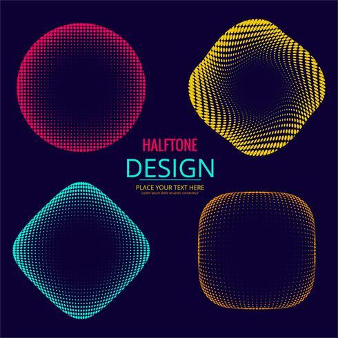 Diseño colorido de semitono abstracto