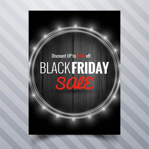 Abstract black friday sale poster brochure template design  vector