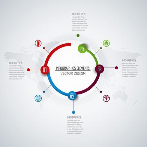 Fundo abstrato infográfico criativo