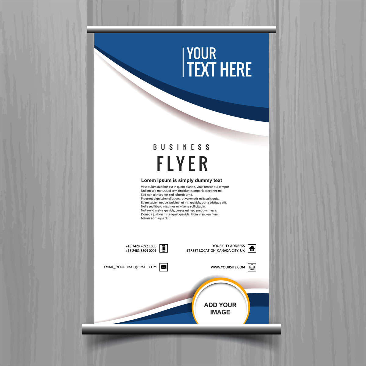 Business Dashboard Flyer Free Download: Modern Stylish Buisness Brochure Card Template Vector