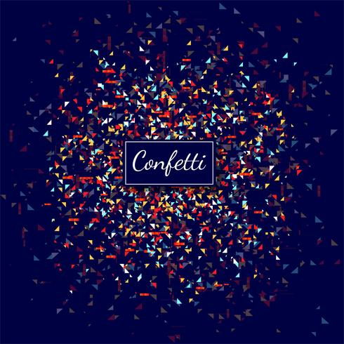 Beautiful colorful confetti transparent background