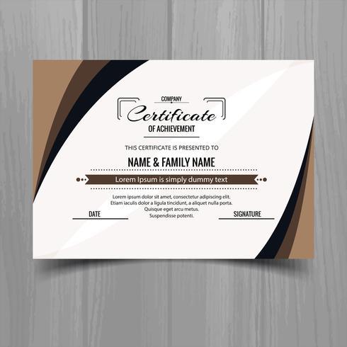 Hermoso diseño de plantilla de certificado
