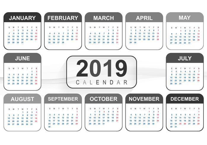 2019年月曆 免費下載 | 天天瘋後製