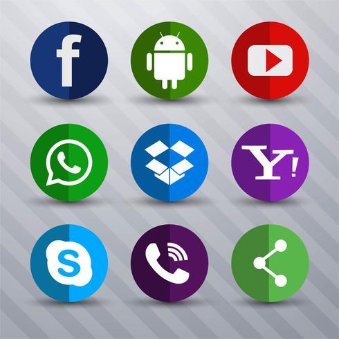 Pictogrammen voor sociale netwerken vector illustratie ontwerp