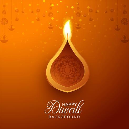 Joyeux diwali diya fond de festival de lampe à huile