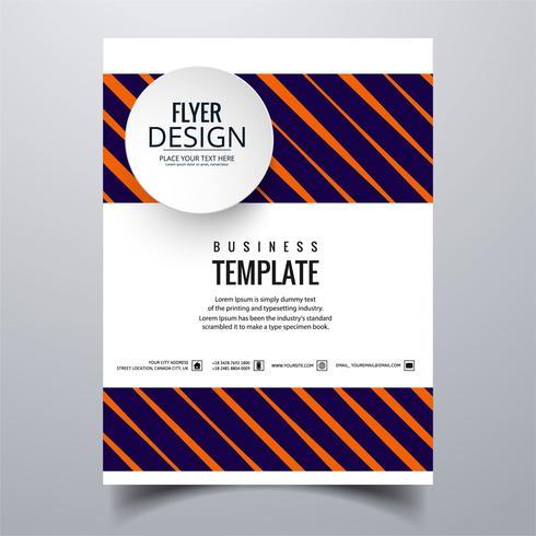Diseño elegante abstracto de la plantilla de la tarjeta del folleto del negocio
