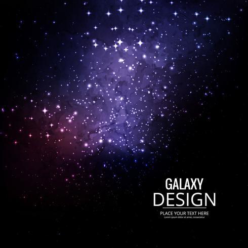Weltraum-Galaxie-Hintergrund mit Nebelfleck, Stardust und hellem Glänzen