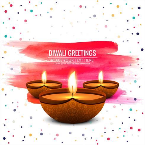 Fondo brillante de diwali diya aceite lámpara festival brillante