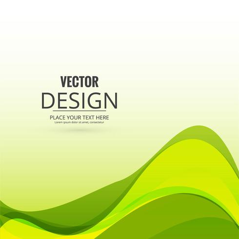 Abstract creative wavy background vector