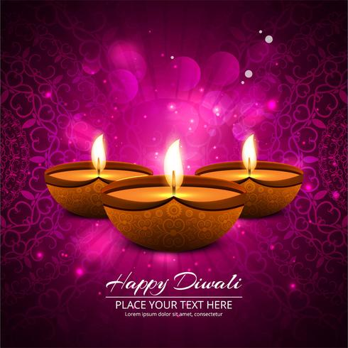 Happy diwali diya oil lamp festival background illustration - Download Free Vector Art, Stock Graphics & Images