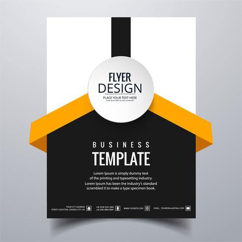 Moderne stijlvolle buis brochure kaartsjabloon vector