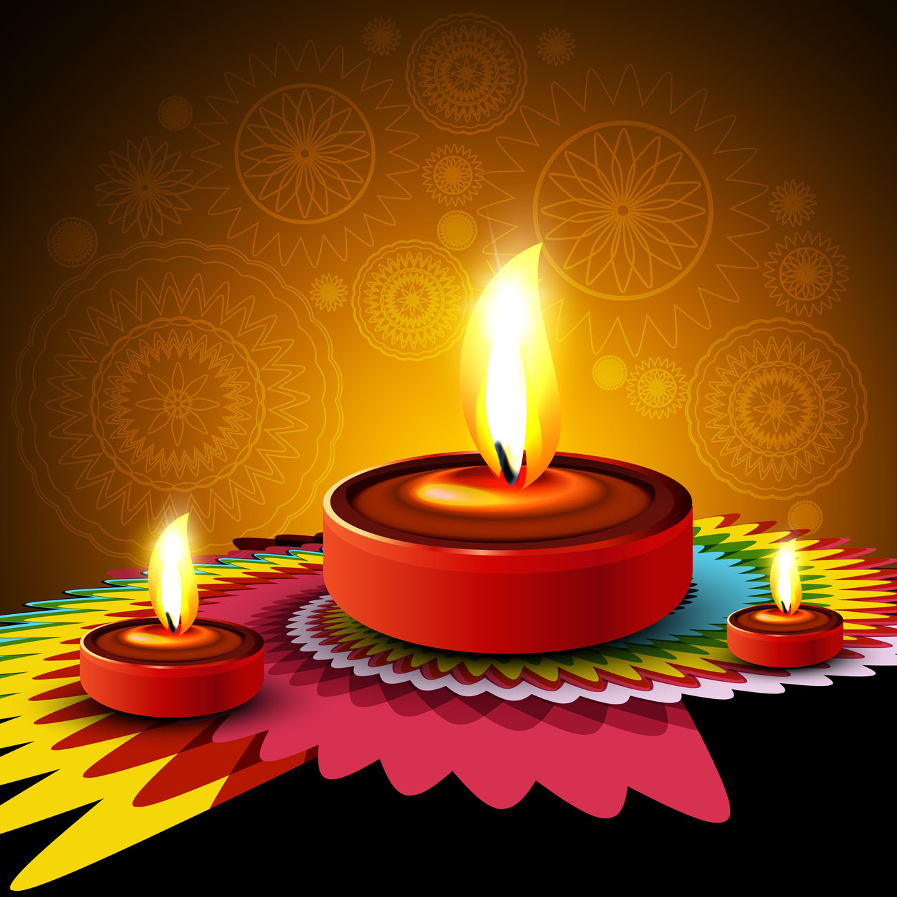 Happy Diwali Diya Oil Lamp Festival Background