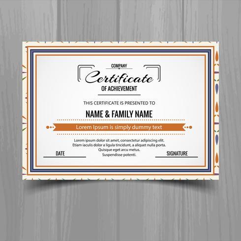 Beautiful certificate template design vector