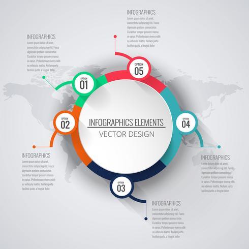 Fondo infográfico creativo abstracto