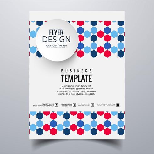 Conception de modèle de carte brochure abstrait buisness élégant
