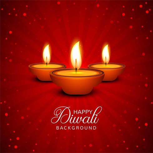 Firande Glad Diwali dekorativa oljelampa bakgrund