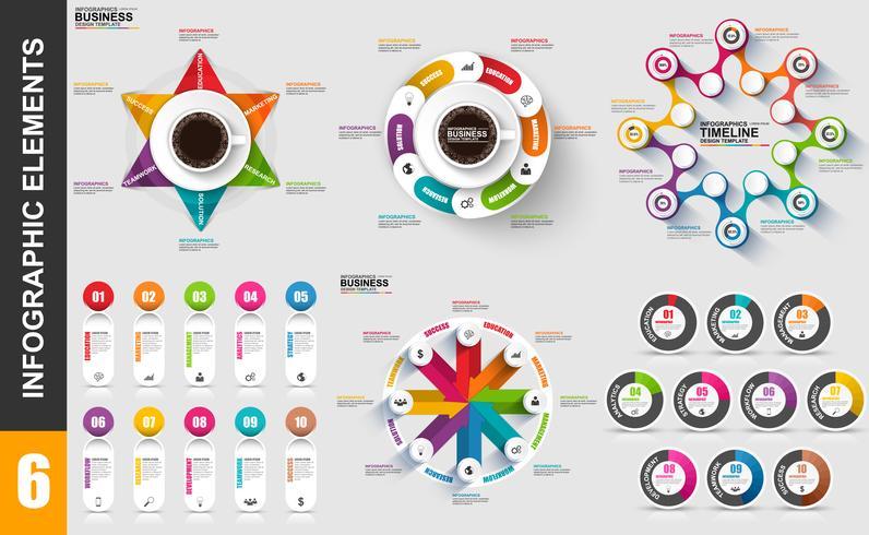 Molde do projeto do vetor do visualização dos dados dos elementos de Infographic.